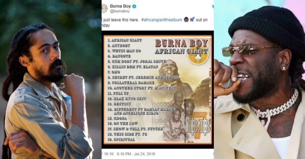 Burna Boy Features Bob Marley's Son In 'African Giant' Album
