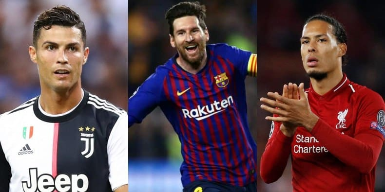 Messi, Ronaldo, Van Dijk make Best FIFA Men's Player of the Year nominees