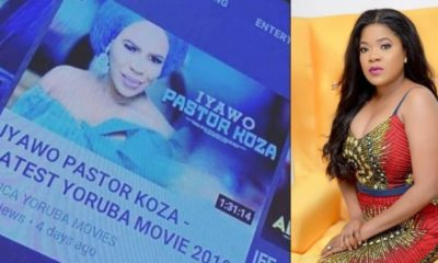 Toyin Abraham reacts as Nollywood release new movie, 'Iyawo Pastor Koza'