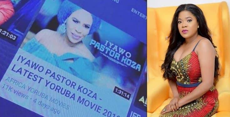 Toyin Abraham reacts as Nollywood release new movie, 'Iyawo Pastor Koza'