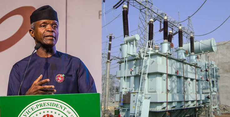 'We have invested ₦900 billion in power since we assumed office in 2015' - Osinbajo
