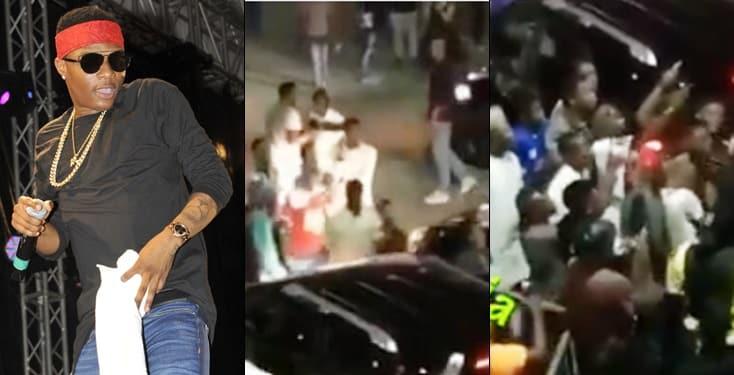 Wizkid's Bodyguard Goes Violent