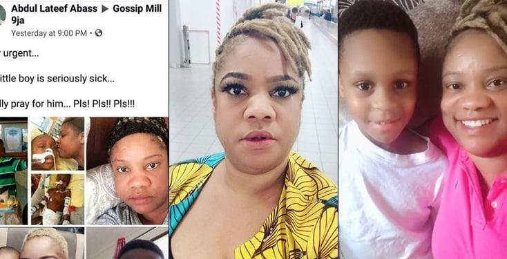 Opeyemi Aiyeola Rains Curses On Those Spreading Rumours About Son's Health