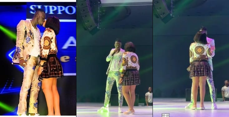 Akpororo And Wife Kiss On Stage