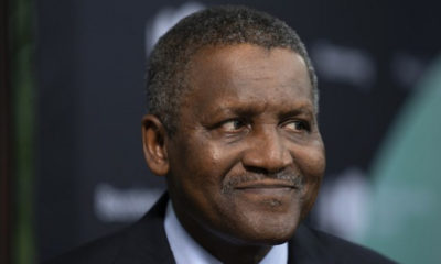 Aliko Dangote remains the only African billionaire among the world's 100 richest people for 2019