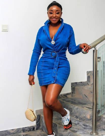 Actress Ini Edo flaunts her curves in stunning new video -1