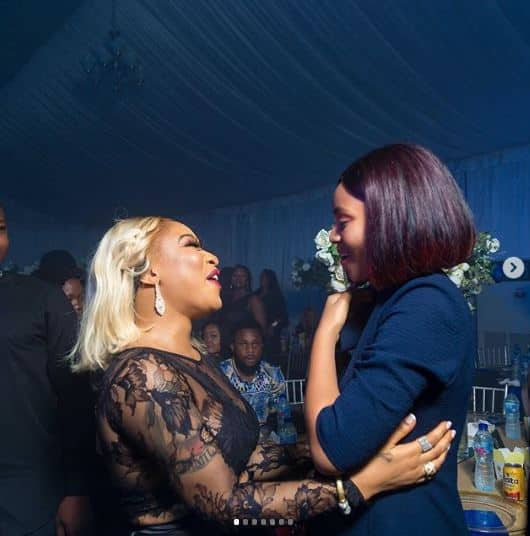 Actress Regina Daniels gushes about meeting Tonto Dikeh (photos)