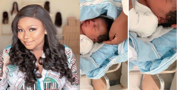 Actress Ruth Kadiri shares first photos of her newborn daughter