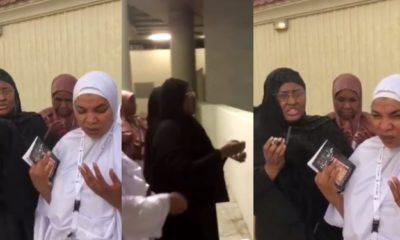 "Aisha Buhari filmed ""stoning the devil"" during this year's Hajj (video)"