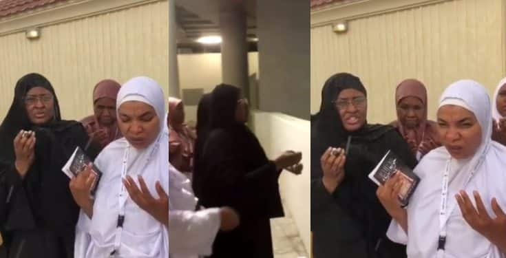 "Aisha Buhari filmed ""stoning the devil"" during this year's Hajj (video)"