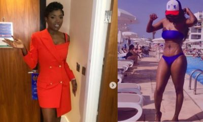 Annie Idibia replies fan who criticised her bikini photo