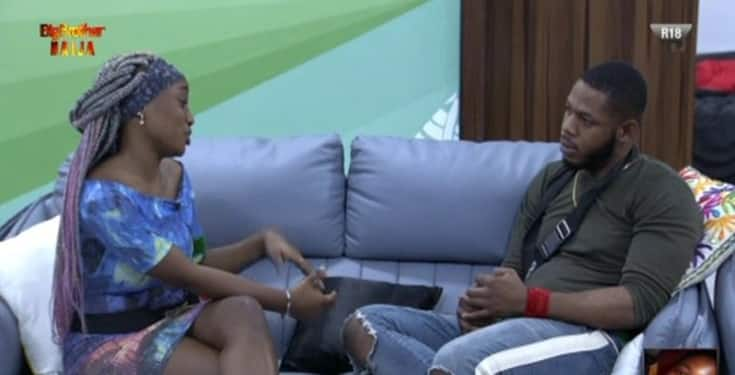 BBNaija: 'Pray For Frodd' – Fans react as Esther makes a move on him