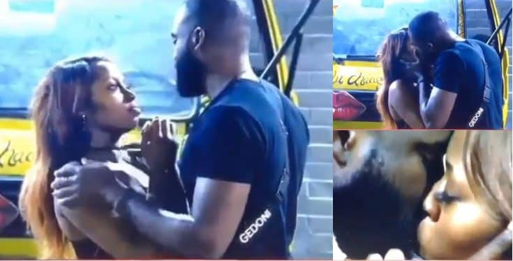 BBNaija 2019: Gedoni and Khafi share a passionate kiss (video)