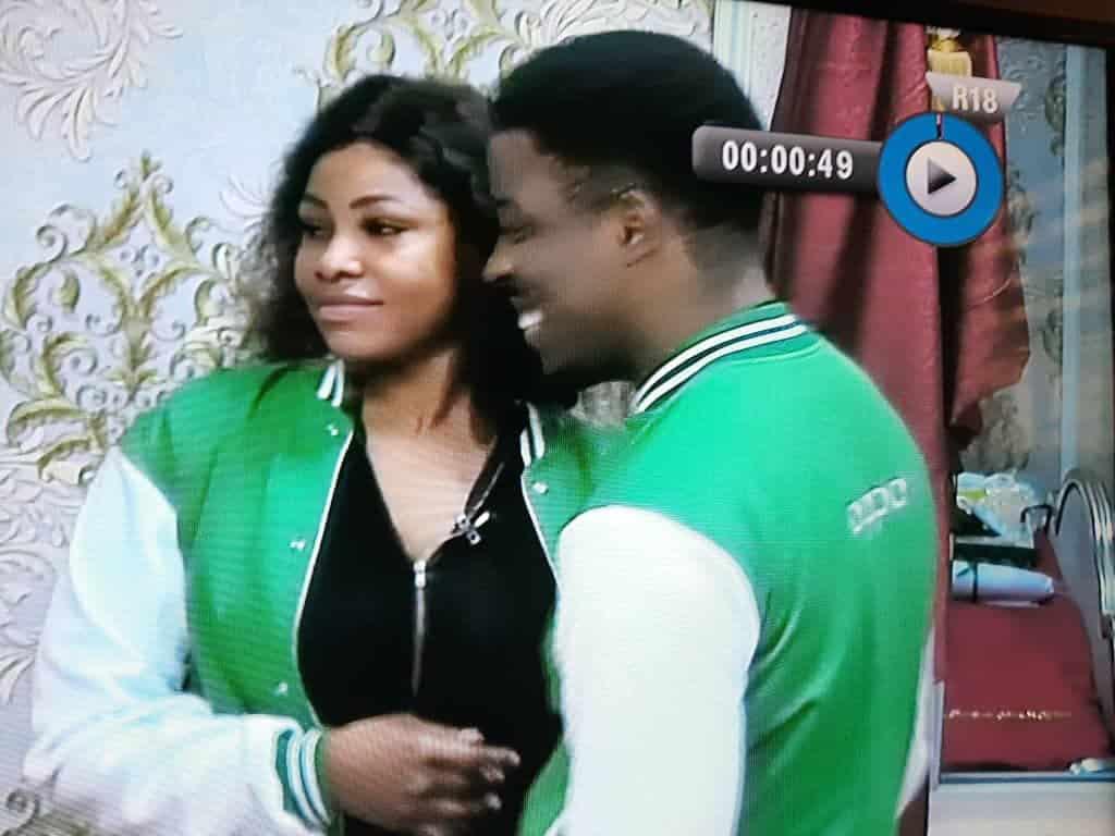 BBNaija 2019 Seyi and Tacha captured hugging passionately
