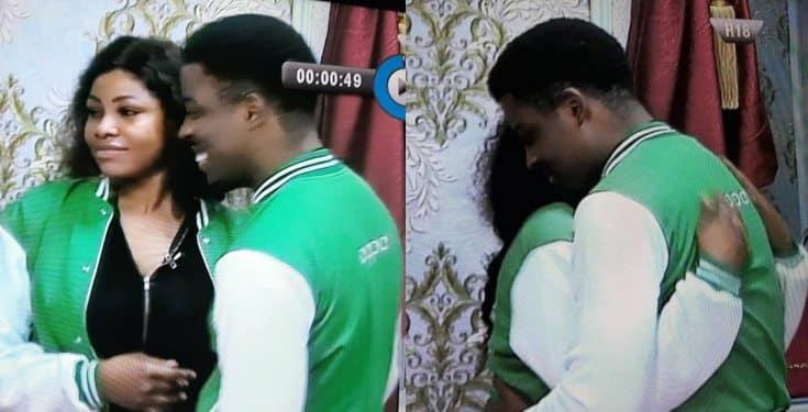 BBNaija 2019: Seyi and Tacha captured hugging passionately (video)