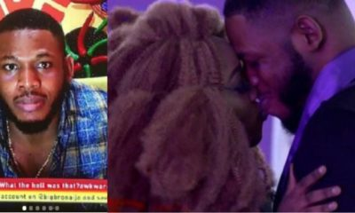BBNaija: 'I pray for more' - Frodd tells Biggie after a 'kiss' from Esther
