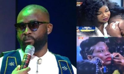 BBNaija: Moment Tacha consoled Khafi after Gedoni's eviction (video)