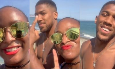 DJ Cuppy and Anthony Joshua vacation in Spain (video)
