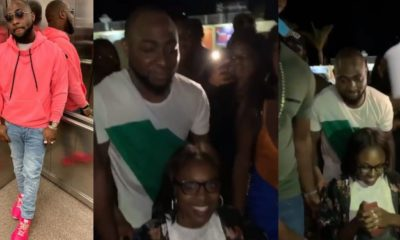 Davido helps a physically challenged lady in a wheelchair (video)