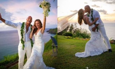 Dwayne 'The Rock' Johnson marries his girlfriend of 12 years (photos)
