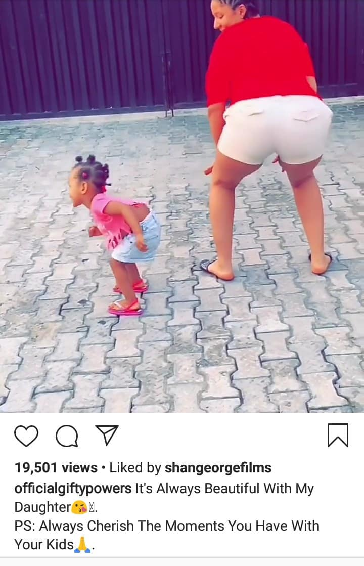 Gifty teaches her 1-year-old daughter how to twerk (video)