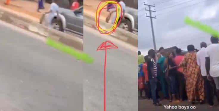 Girl allegedly turns into a snake after alighting from a Benz (video)