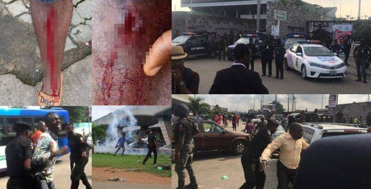 Gunshots as policemen, soldiers chase #RevolutionNow protesters (video)