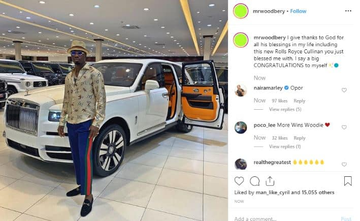 Hushpuppi celebrates his friend for buying $325k 2019 Rolls Royce Cullinan (video)