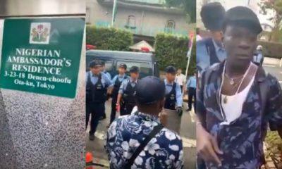 IPOB members demand the arrest of President Buhari in Japan (video)