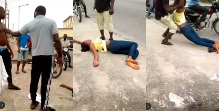 "Lady faints repeatedly on streets of Lagos saying ""Marry me or I die"""
