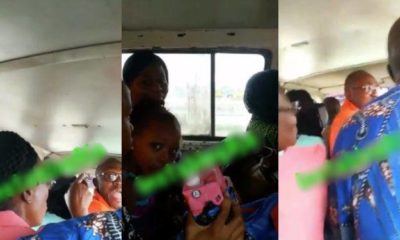 Lady in trouble for paying for her kids to sit comfortably in a bus (video)