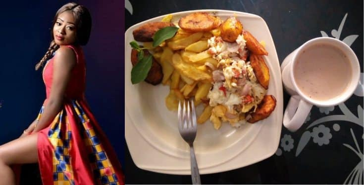 Lady moves boyfriend to tears with fried plantain and eggs