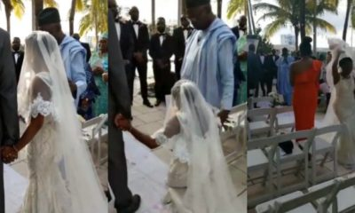 Lady walks out from her wedding after apologizing to her father (video)