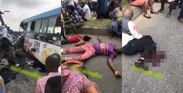 Many feared dead as cement truck crush BRT in Ikorodu (video)