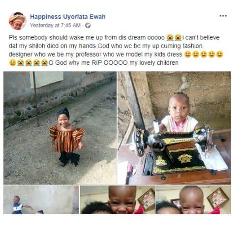 Nigerian mother cries out after her kids were poisoned to death (photos)