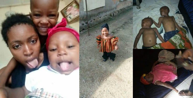 Lady cries out after her kids were allegedly poisoned to death (photos)