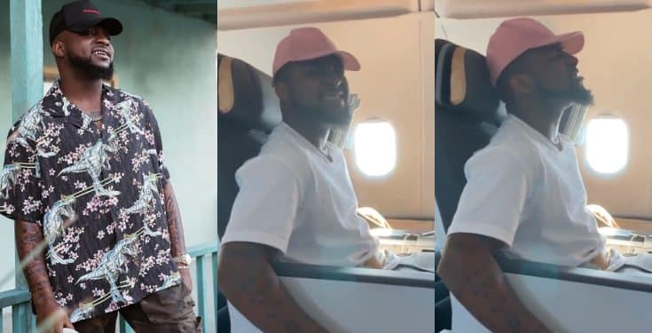 Singer Davido survives scary airplane turbulence (video)