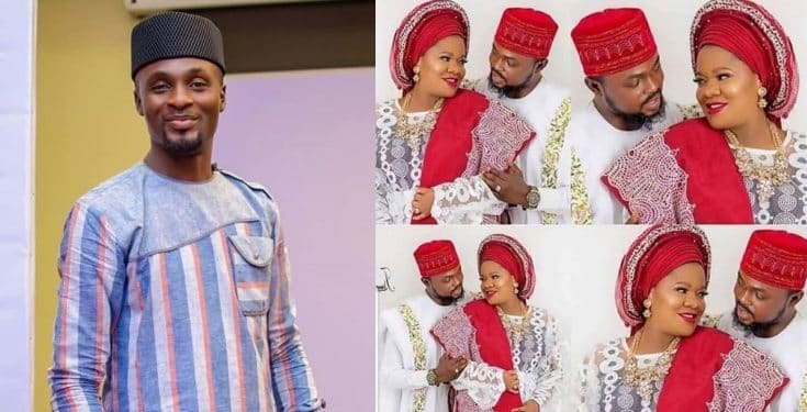 Toyin Abraham's ex-husband, Adeniyi Johnson congratulates her on the arrival of her baby