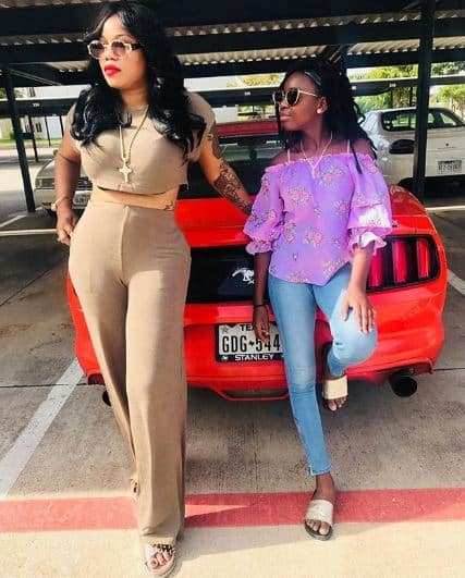 Toyin Lawani cries out as old men disturb her 14-year-old daughter (screenshot)