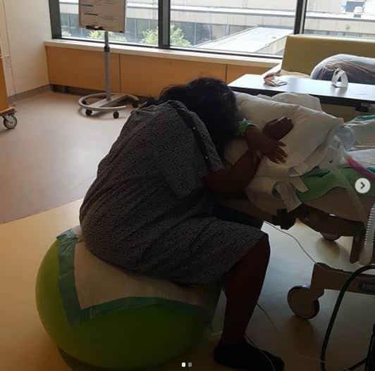 Ubi Franklin's alleged 4th babymama Sandra Iheuwa welcomes baby