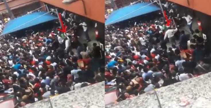 University of Calabar staff seen flogging Post-UTME candidates (video)