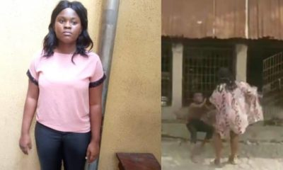 Woman finally speaks on why she flogged and locked a boy in adog's cage