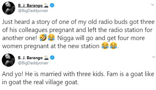 Married OAP leaves radio station after impregnating three of his colleagues