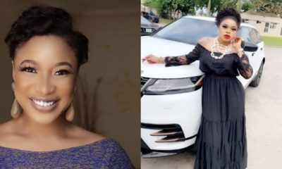 Actress Tonto Dikeh replies fan who queried her for gifting Bobrisky iPhone11