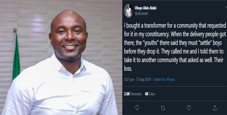 Akin Alabi narrates what happened after he bought transformer for a community