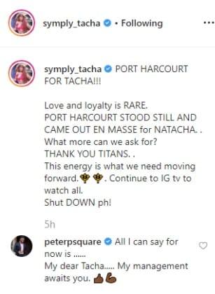 BBNaija 2019: Peter Okoye promises Tacha an endorsement deal