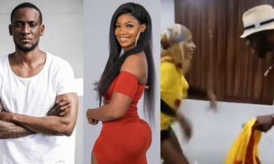 BBNaija: Frodd and Mercy seen dancing happily during a fight between Tacha and Omoshola (video)