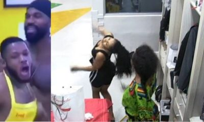 BBNaija: Moment male housemates mimic Tacha, and Mercy's Fight (Video)