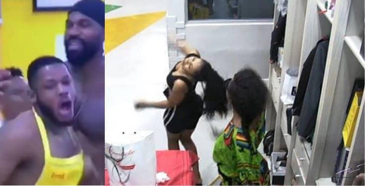 BBNaija: Moment male housemates mimic Tacha, and Mercy's Fight (Video)