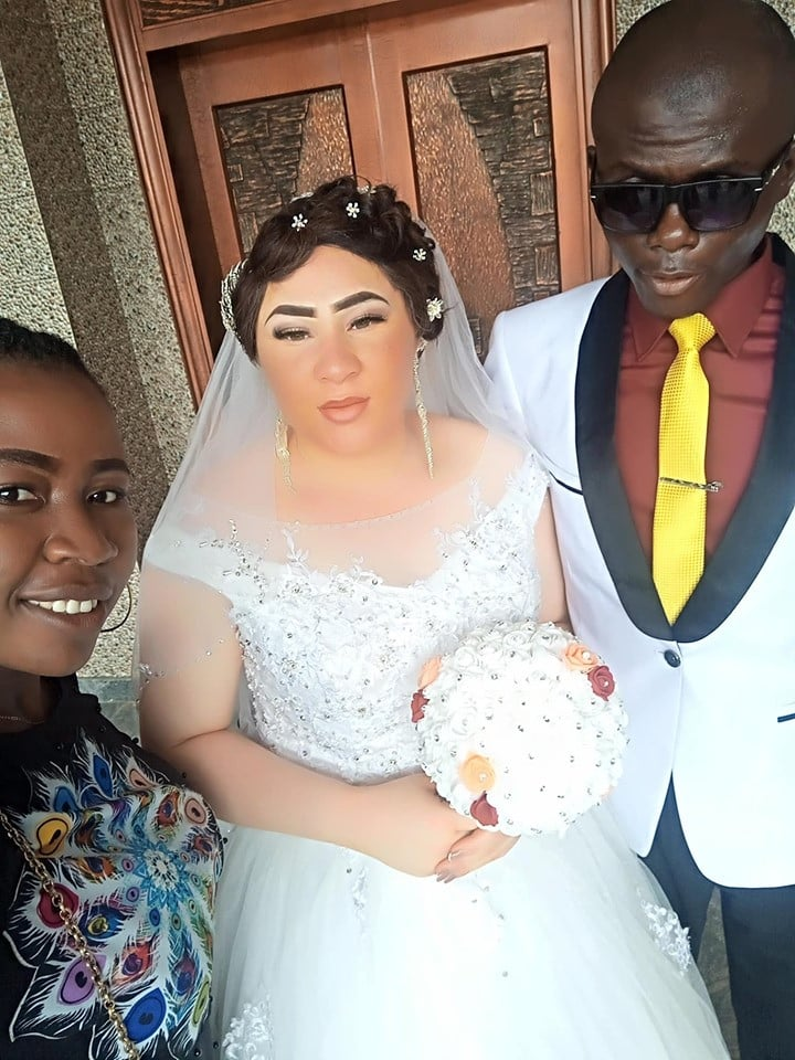 Lady walks down the aisle with her blind fiancé in Nasarawa State (photos)